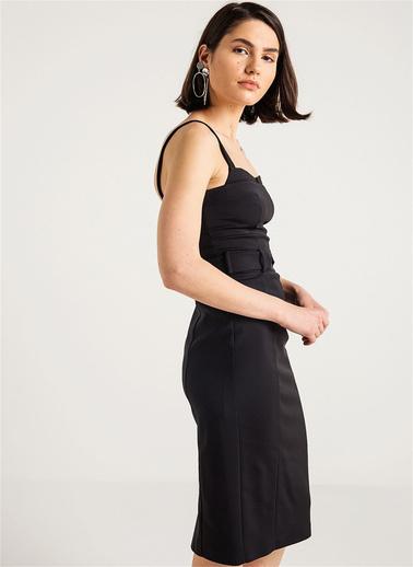 Rue Askılı Kalem Elbise Siyah